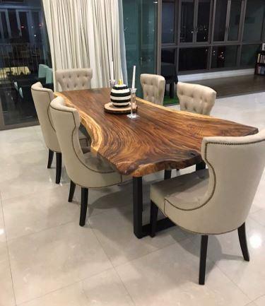 Enjoyable 3Bigtree Solid Wood Table Slab Manufacturer Sungai Buloh Home Remodeling Inspirations Cosmcuboardxyz